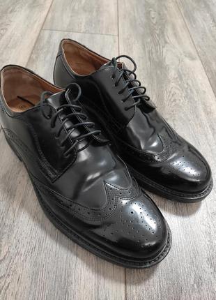 Мужские классические ботинки туфли оксфорды bugatti comfort weite размер 43