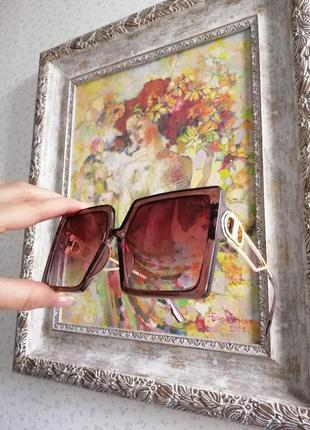 Эксклюзивные брендовые очки крупный скошенный квадрат
