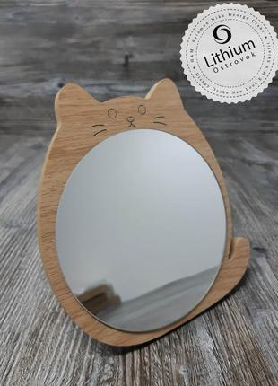 Зеркало настольное для макияжа и не только ) - котик №2