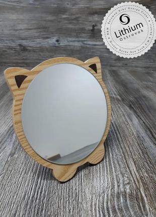 Зеркало настольное для макияжа и не только ) - котик №3