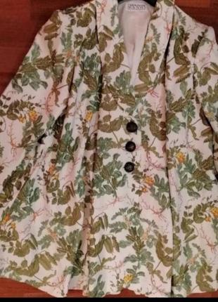 Пиджак жакет в цветочный принт