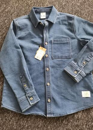 Рубашка котон куртка vrs джинсовая
