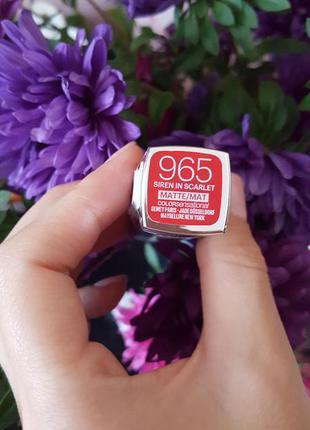 Абсолютно нова  матова помада maybelline color sensational 965