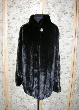 Норковая шуба. 50 52  размер черная привезена из америки