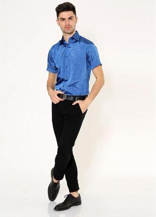 Нарядная рубашка с коротким рукавом  xs s m