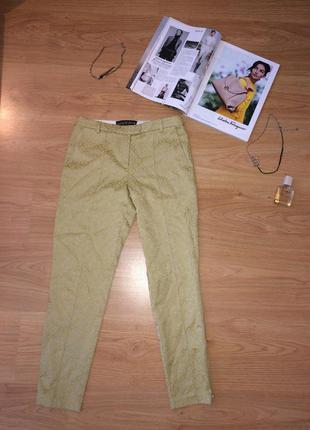 Брюки topshop / жаккардовые брюки / штаны