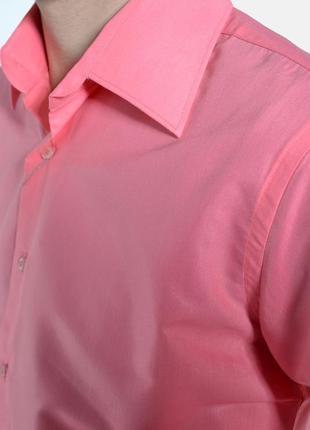 Коралловая рубашка с длинным рукавом xs s