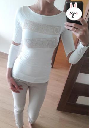 Итальянская белая кофточка denny rose.