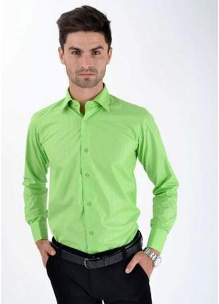 Салатовая рубашка с рукавом длинным- s m l