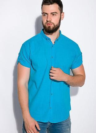 Хлопковая летняя рубашка с коротким рукавом- s