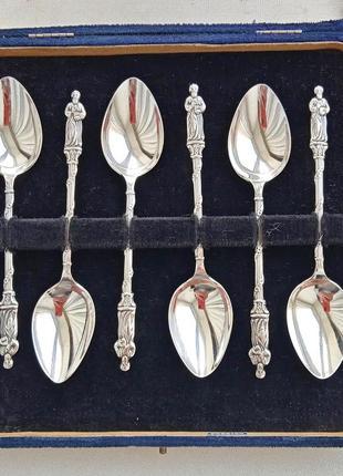 Апостольские ложки 1930 год. серебро 925 п. (sterling silver). англия