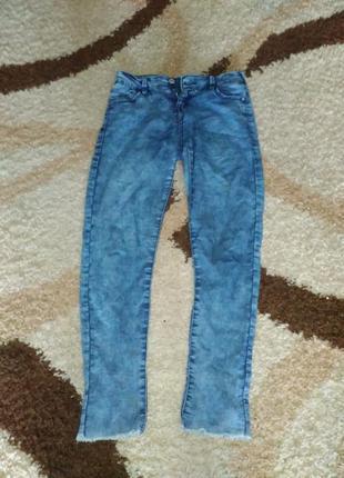 Штаны джинсовые bershka xs-s