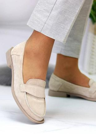 36 - 41 рр жіночі туфлі-лофери на низькому ходу натуральна шкіра або замша daisy 2-31 фото