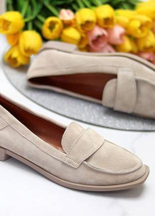 36 - 41 рр жіночі туфлі-лофери на низькому ходу натуральна шкіра або замша daisy 2-32 фото