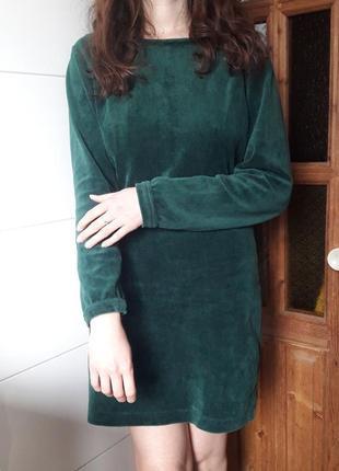 Красивое платье сукня миди вечернее зеленое тренд