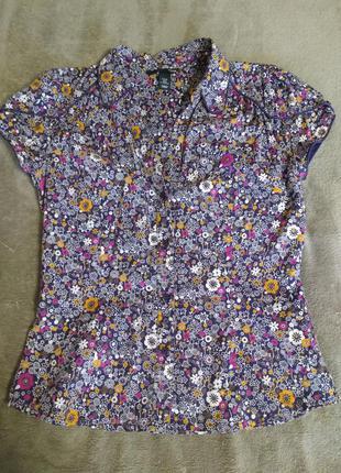 Яркая блузочка в цветочный принт