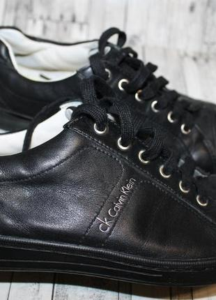 Кожаные туфли кроссовки кеды calvin klein