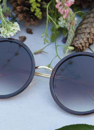 Новые солнцезащитные очки кошечки, шоколадные, градиент