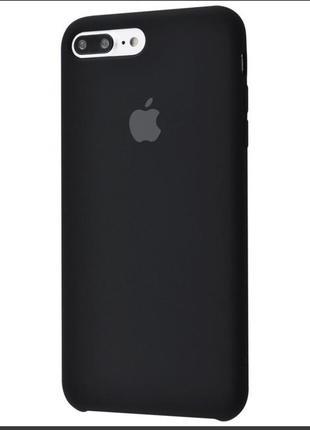 Чехол apple silicone case for iphone 7 plus/8 plus black