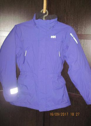 Мембранная термо куртка helly hansen шикарная рост 152 примерно 12 лет