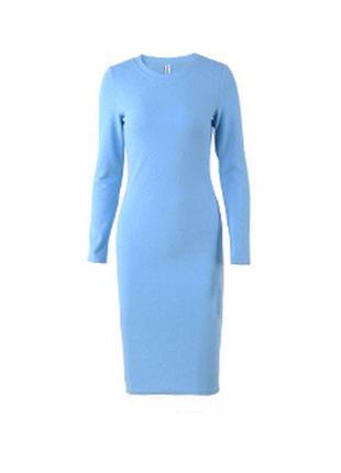 Сегодня -50 грн от цены! голубое платье длины миди
