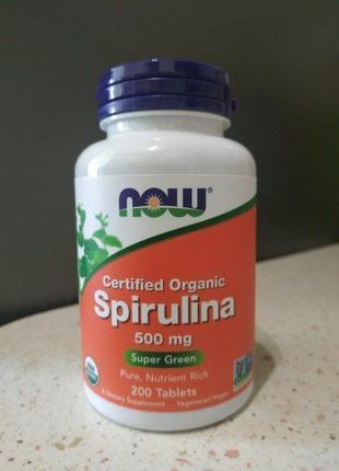 Now foods,  органическая спирулина