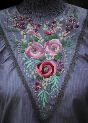 """Нарядная блуза с ручной вышивкой """"волшебство 2"""""""
