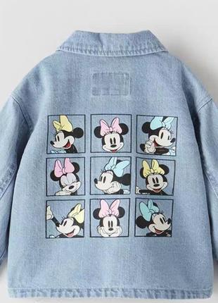 Zara джинсовая курточка на девочку р.92, 98, 104, 110