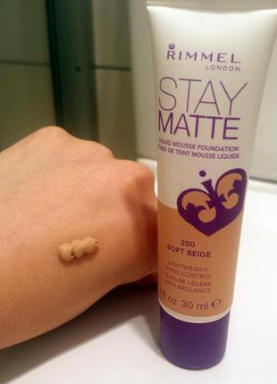 Продам тональный крем rimmel stay matte 200 soft beige