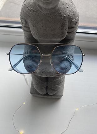 Новые очки с голубым стеклом линзами голубыми солнцезащитные