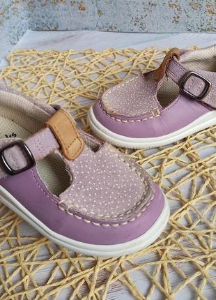 Кожаные туфли clarks 22 размер