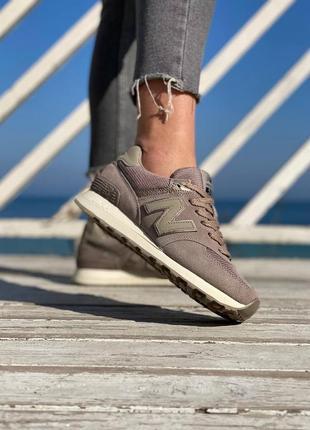 ❤ женские коричневые замшевые кроссовки new balance 574 ❤