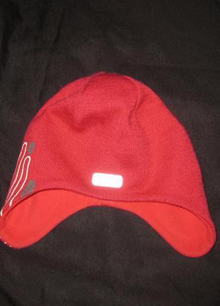 5-8 лет, шапка шлем reima  малиновая