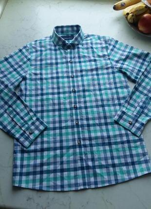 Стильная яркая рубашка next на 11-12 лет
