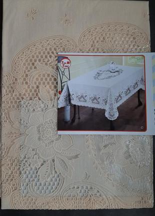 Бежевая скатерть 110×140,скатертина