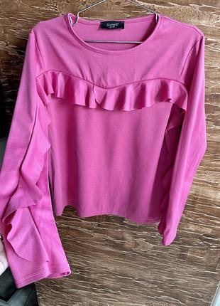 Рожева кофта-блуза