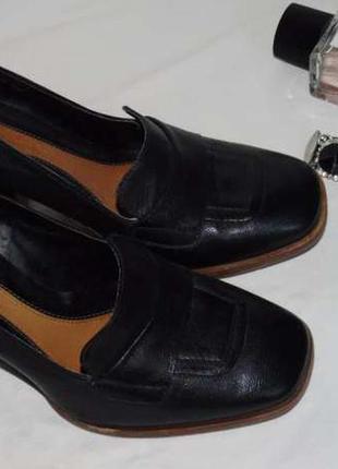 Clarks шикарные кожаные туфли - мокасины - 4 , 5 размер - 37 - 38 - 24