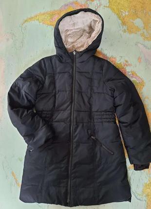Пальто термо зимнее на меху landsend 10-12 лет