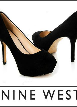 Изысканные черные туфли nine west