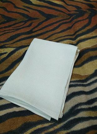 Вафельное белое полотенце 41*115