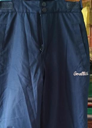 Зимний полукомбинезон, штаны теплые 140-146