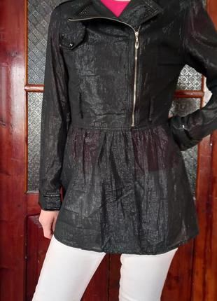 Пиджак, хорошо для беременной на лето, прикрывает живот, длинный
