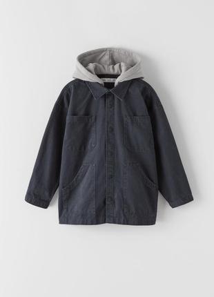 Стильная легкая куртка для мальчика, зара, джинсовая куртка рубашка