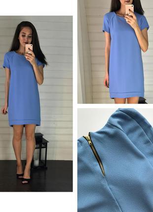 Нежно-голубое платье а-силуэта qed london