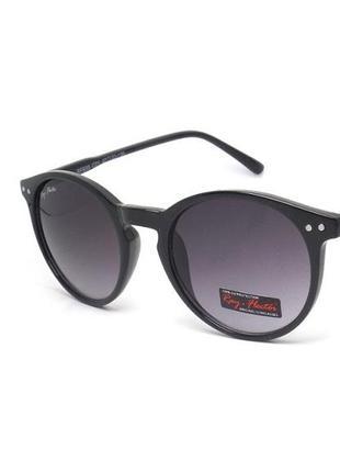 Круглые солнечные очки ray-flector унисекс черные