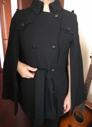 Шерстяное пальто летучая мышь