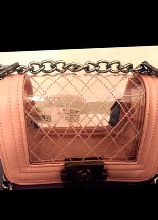 Zuiki италия новая сумка на цепочке прозрачная