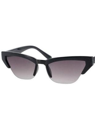 Солнцезащитные очки sumwin кошки в черной оправе с черными линзами