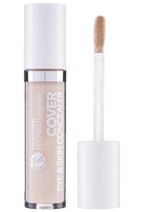 Консилер для очей та шкіри cover eye & skin hypo allergenic bell