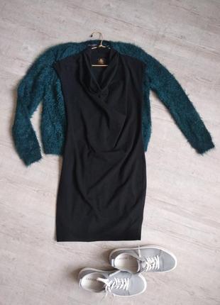 Маленька трикотажна чорна сукня petit bateau розмір s